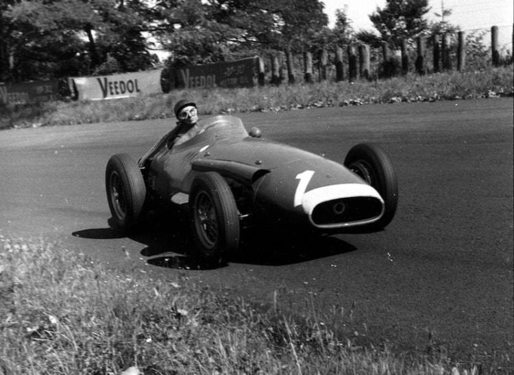 Juan Manuel Fangio at wheel of Maserati 250F