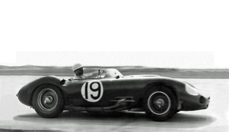 Stirling Moss driving the Maserati 450S