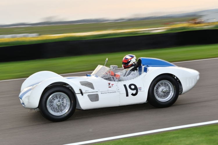 racing the Maserati 61 Birdcage