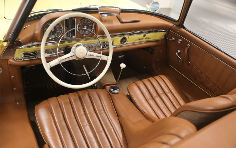 interior of 1963 Mercedes-Benz 300 SL Roadster