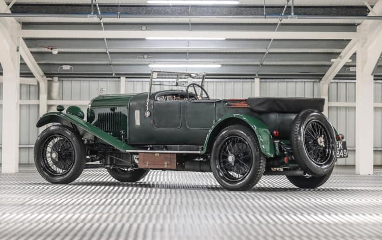 rear of 1930 Bentley 4 1/2 Litre Sports Tourer