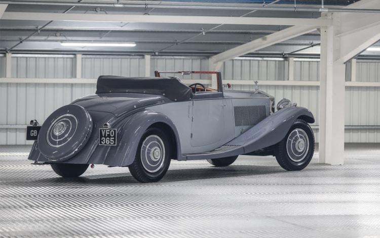 rear of 1934 Rolls-Royce Phantom II Continental Drophead Coupe