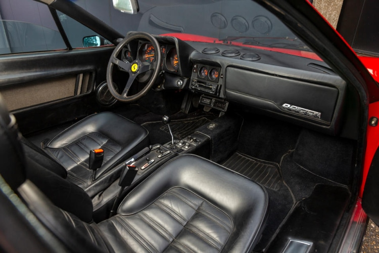 interior of 1987 Ferrari 512BBi Coupe