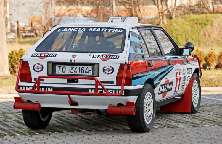 rear of 1988 Lancia Delta Integrale 8V Group A Rally Car