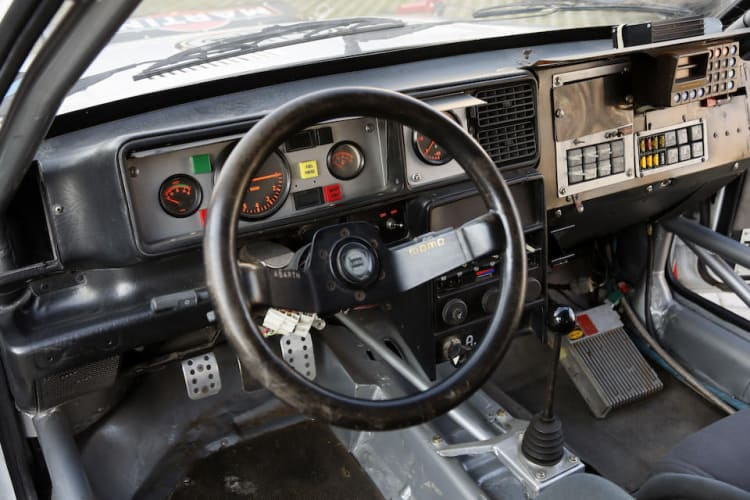 interior of 1988 Lancia Delta Integrale 8V Group A Rally Car