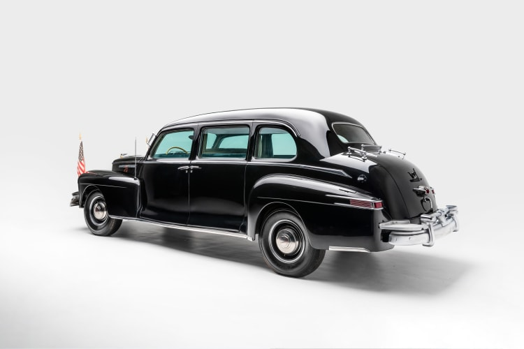 rear of 1942 Lincoln Zephyr Limousine