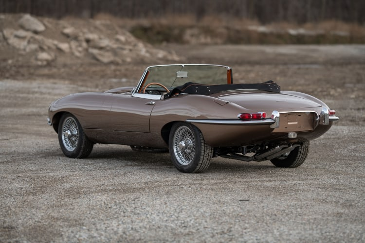 rear of Series 1 Jaguar E-Type