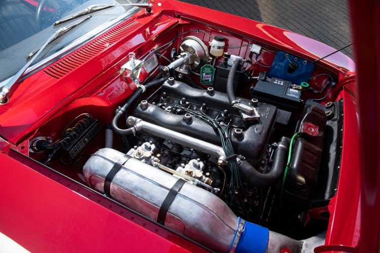 engine of 1965 Alfa Romeo Giulia Sprint GTA by Bertone