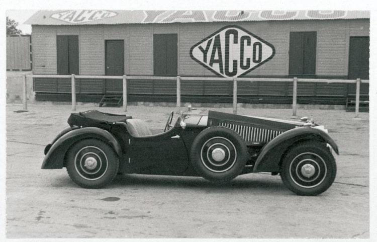 b&W 1937 Bugatti Type 57 Surbaisse