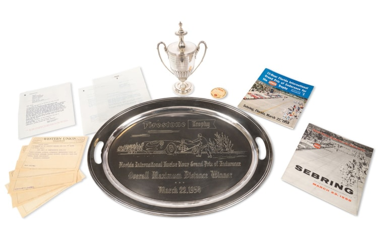Significant Items from Phil Hill's Victory with Ferrari at the 1958 12 Hours of Sebring