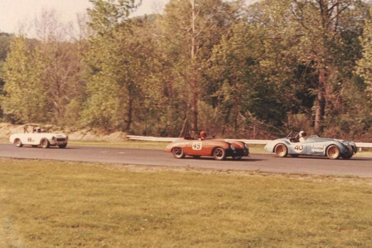 Ed Parlett and his Porsche 356