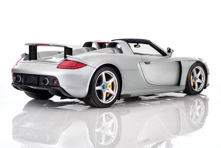 rear of Porsche Carrera GT