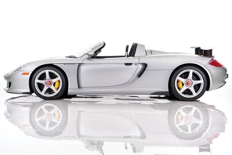 side of Porsche Carrera GT