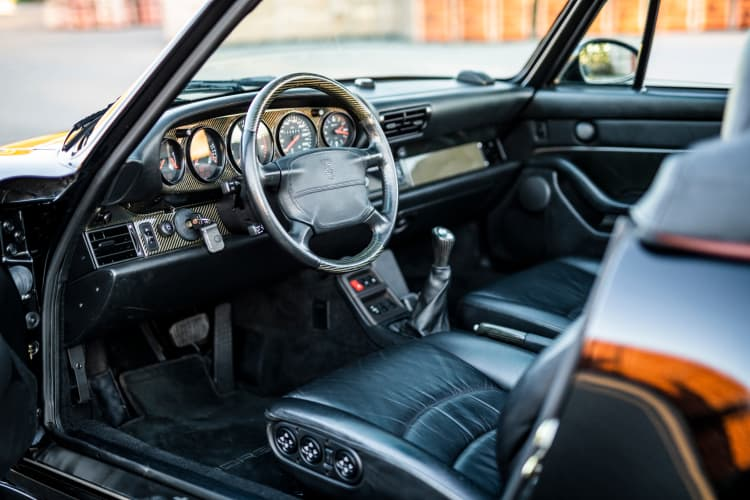 interior of 1995 Porsche 911 Turbo Cabriolet