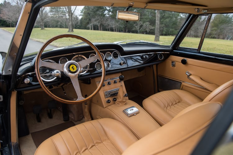 interior of 1962 Ferrari 250 GTE 2+2 Series II