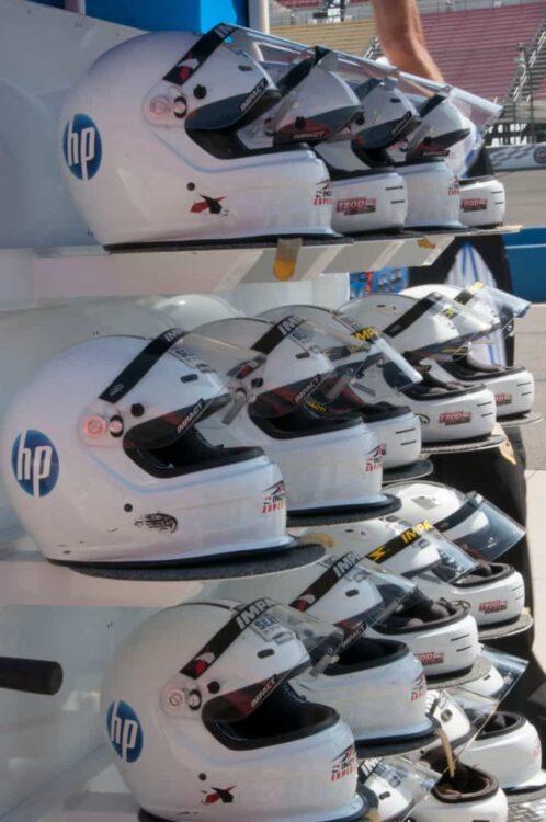 Helmuts on display