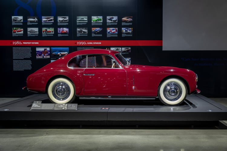 side of 1947 Cisitalia 202 Coupe