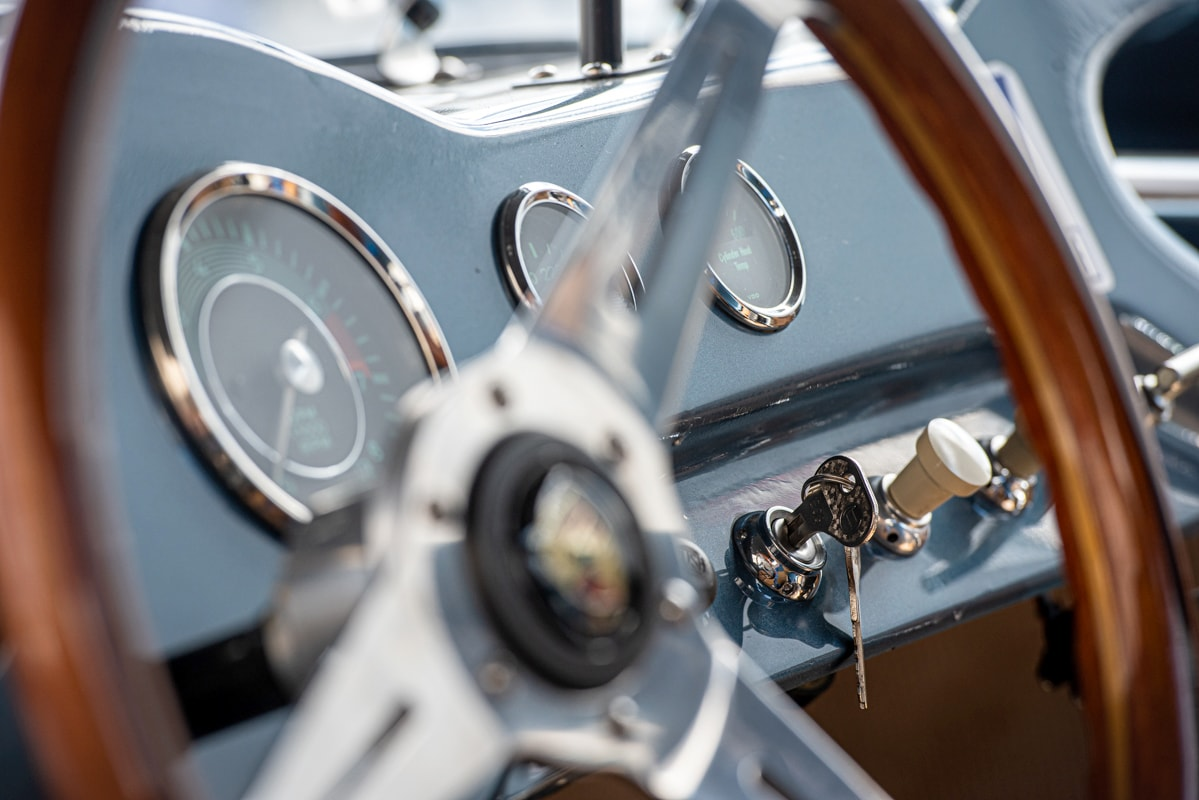 The dash of a 1959 Devin Special