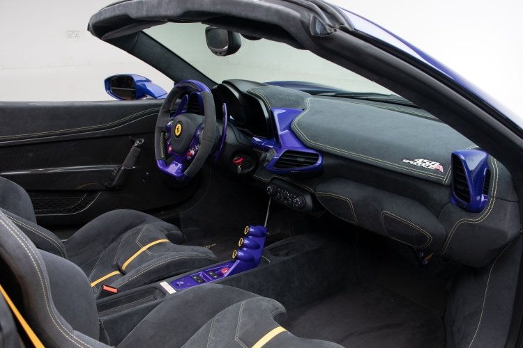 interior of 2015 Ferrari 458 Speciale A