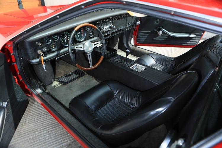 interior of 1970 De Tomaso Mangusta