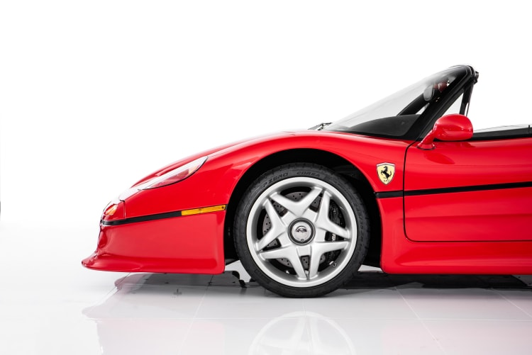 wheels of the Ferrari F50