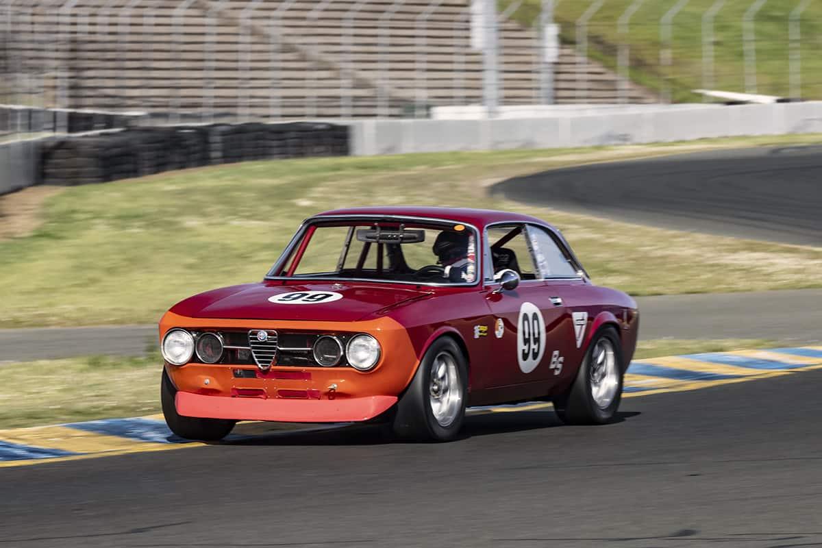 Bruce McKean - 1969 Alfa Romeo GTV - Exits turn ten Friday.