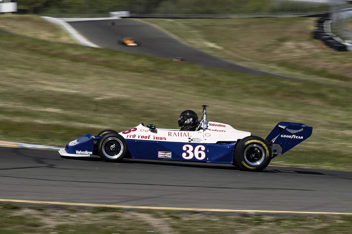 Jonathan Burke - 1977 Ralt RT-1 up the hill into turn two.