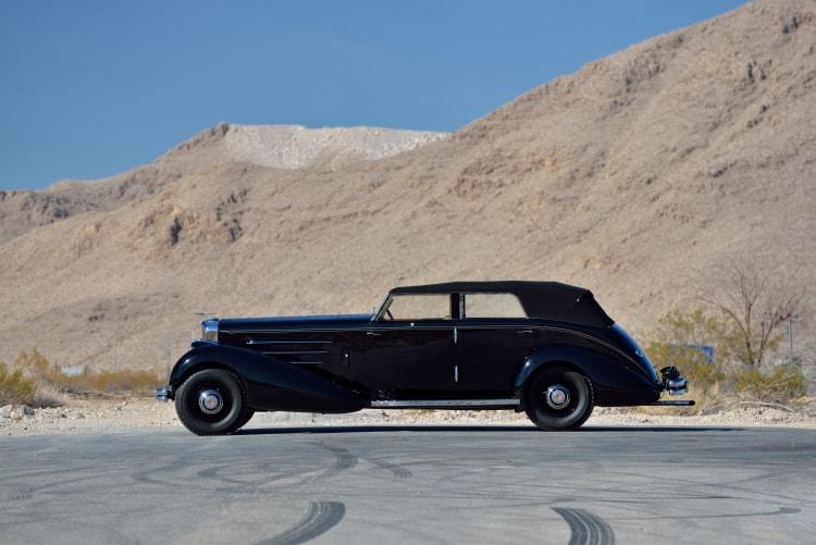 side of 1936 Duesenberg Model J Rollston Convertible Berline
