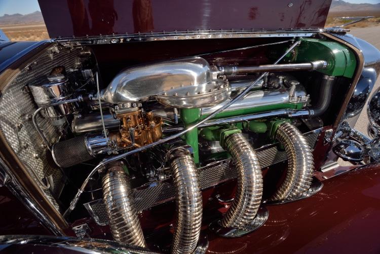 engine  of the 1930 Duesenberg Model SJ Rollston Convertible Victoria