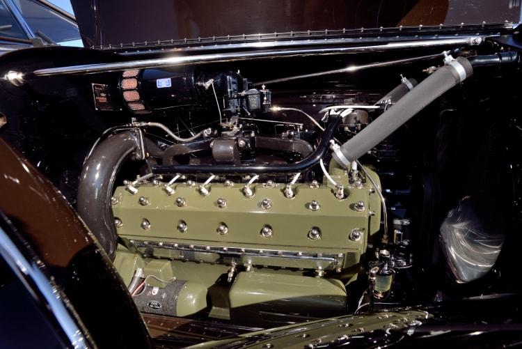 Engine of 1934 Packard 1108 Twelve Dietrich