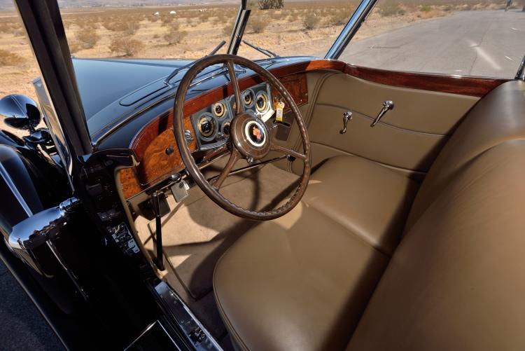 Interior of 1934 Packard 1108 Twelve Dietrich
