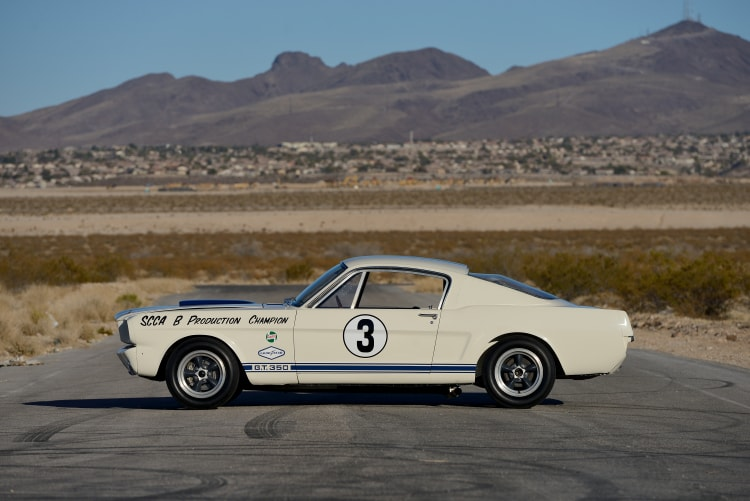 side of 1965 Shelby GT350R Fastback