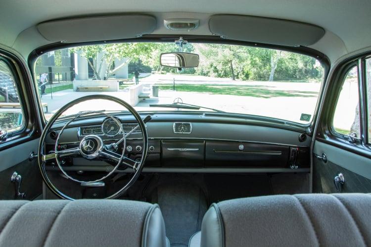 interior of 1958 Mercedes-Benz 180D