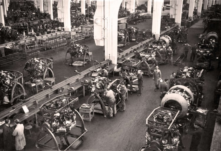 Production of BMW 801 aircraft engines