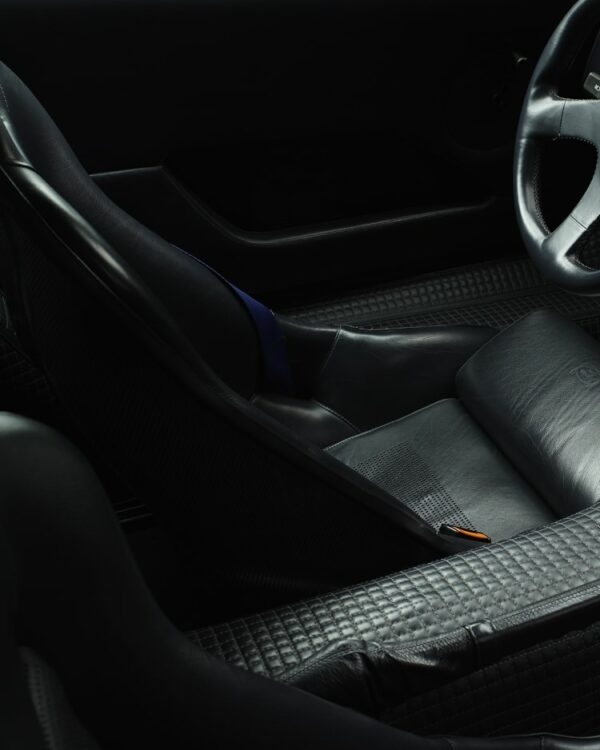 interior of the Bugatti EB110 supersport