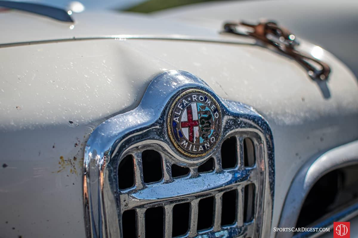 Alfa Romeo badge and front grill