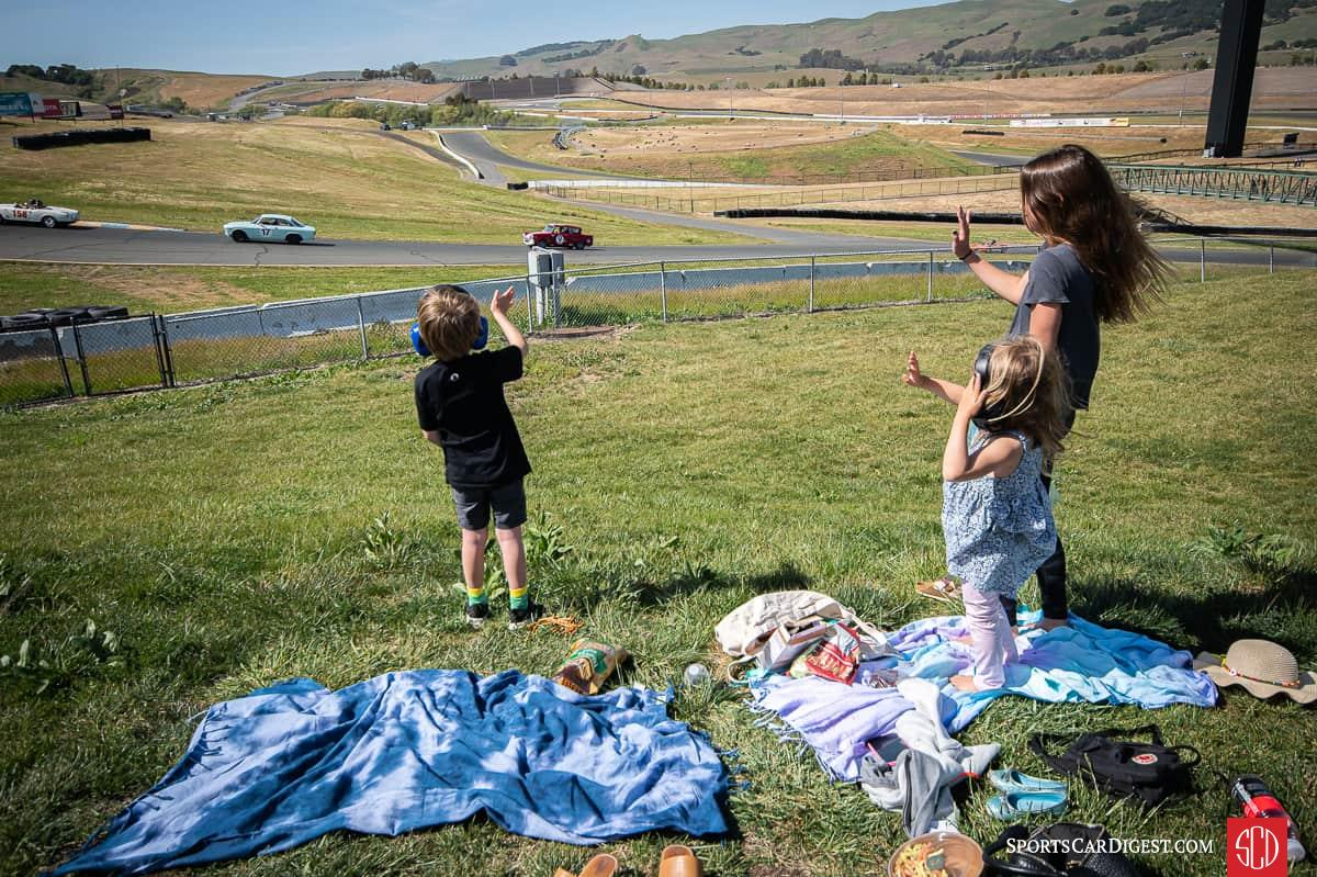 While race spectators were not allowed to view the race due to Covid-19 restrictions, there were a few immediate family members from one racers family to cheer the cars on.