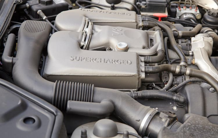 Supercharged engine of Jaguar XKR