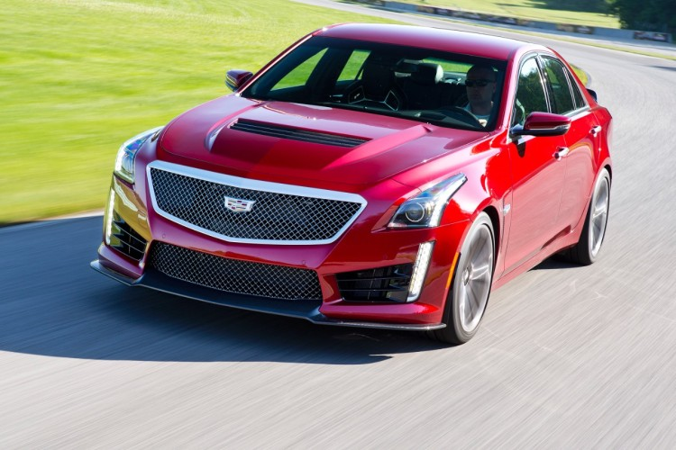 Cadillac CTS-V four door sports car
