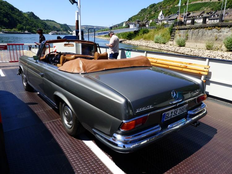 back of Mercedes